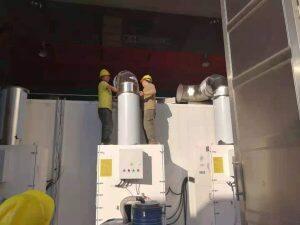 滤筒除尘器安装现场